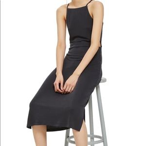Topshop Cut Out Side Midi Slip Dress